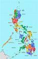 Philippines - regions and provinces • Map • PopulationData.net