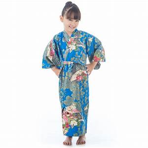 Age, 6, To, 7, Blue, Cotton, Japanese, Girls, Kimono