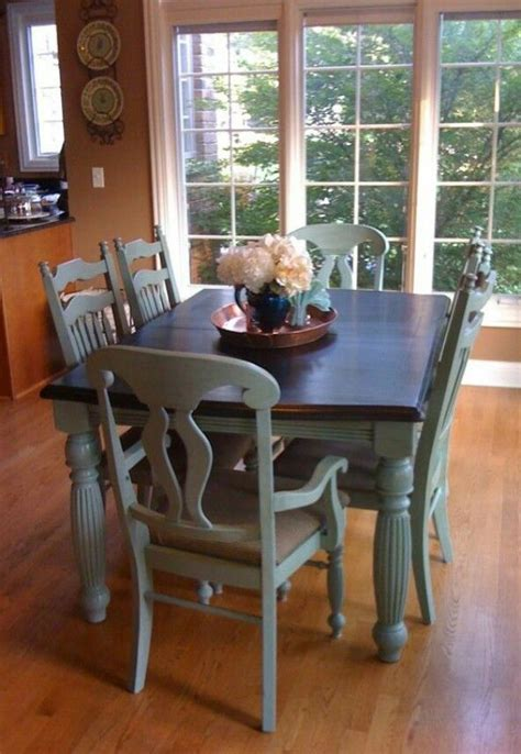 slate blue chalk paint distressed top refinished