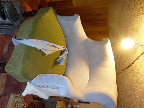 restauration canapé cuir fauteuil crapaud relooké façon patchwork la assise