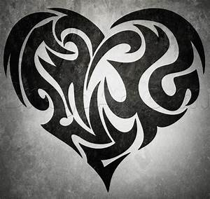 Learn How to Draw a Tribal Heart Tattoo, Tribal Art, Pop ...