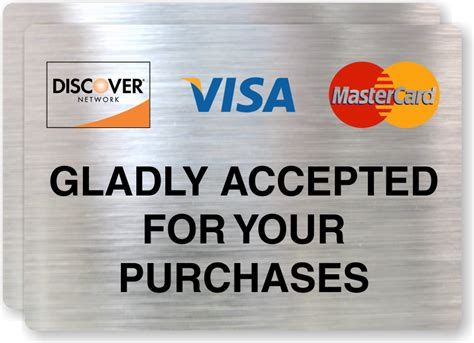 credit card signs credit  debit cards accepted