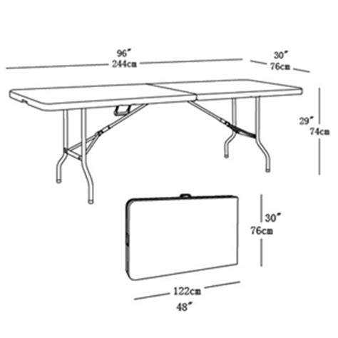 standard 8 foot table large 8ft folding table