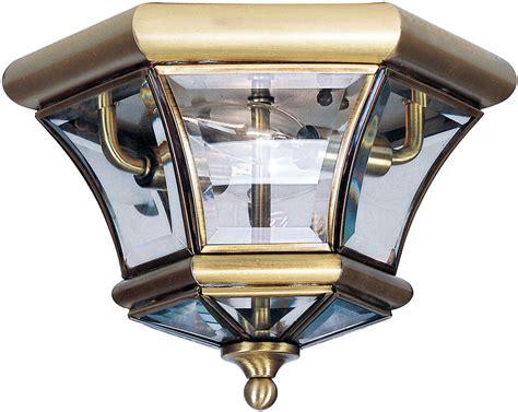 antique brass flush mount ceiling light livex 7052 01 monterey georgetown antique brass outdoor