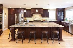 san francisco dark cherry color kitchen traditional with