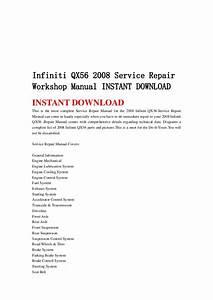 Infiniti Qx56 2008 Service Repair Workshop Manual Instant