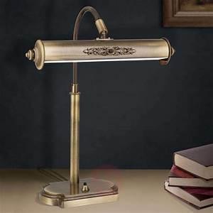 Acquista Lampada Da Scrivania Picture In Ottone Antico