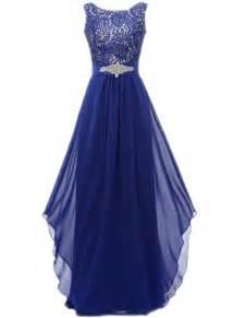 navy blue dress floral lace paneled asymmetric prom dress oasap