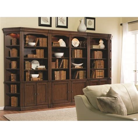 Bookcases Wall Units by Furniture Cherry Creek Bookcase Wall Unit In Brown