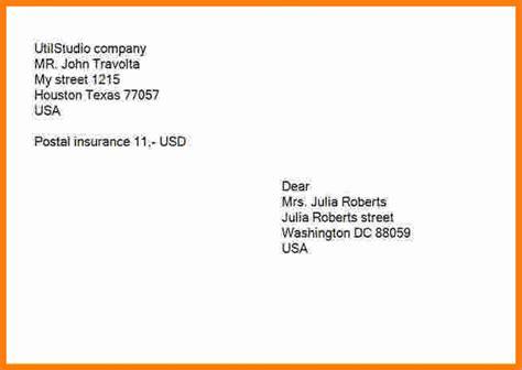 letter envelope format gplusnick