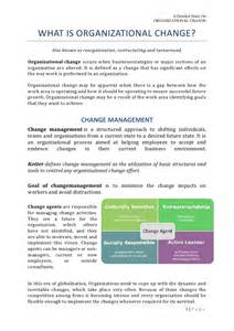 Organizational Change Announcement Sample