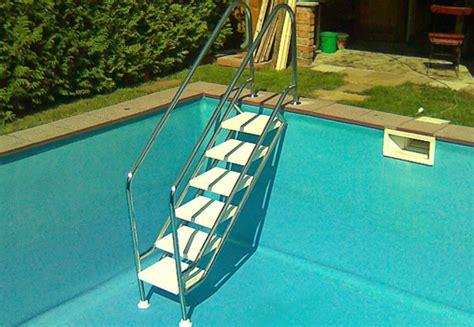 pool treppe nachrüsten pool zubeh 246 r vom fachmann reinigung leitern technik