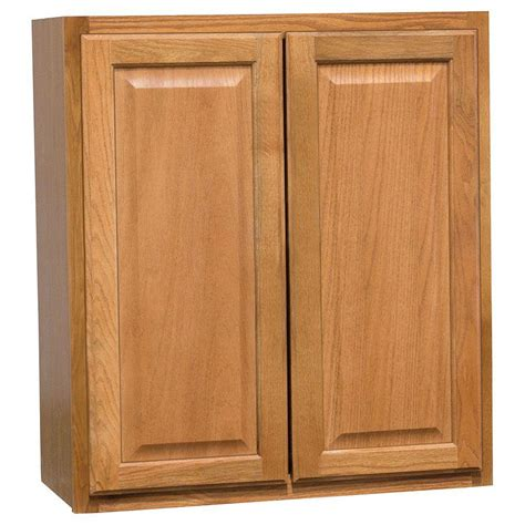 medium oak kitchen cabinets hton bay hton assembled 27x30x12 in wall kitchen 7422