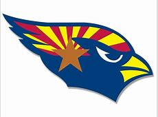 3x5 inch Cardinals SHAPED Arizona State Flag Sticker