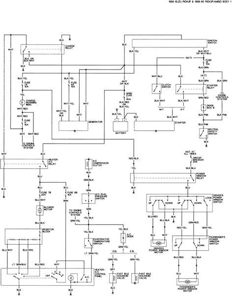 1988 Isuzu Wiring Diagram by Repair Guides
