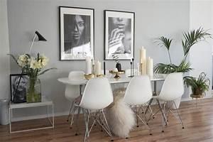 Grau Grün Wandfarbe : esszimmer graue wand als akzent kolorat ~ Frokenaadalensverden.com Haus und Dekorationen
