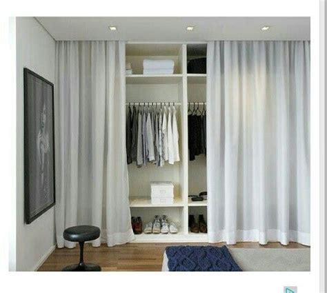 armario sin puertas ideas utiles armario cortina