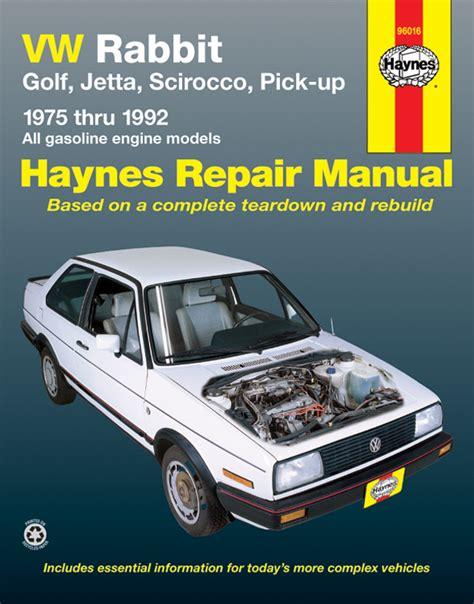 online auto repair manual 1992 volkswagen gti head up display scirocco gas haynes manuals