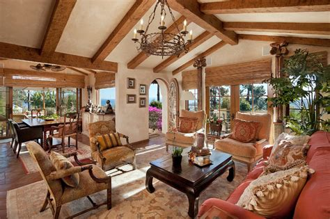 Spanish Revival Residence-mediterranean-living Room