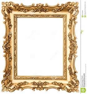 cadre de tableau d or de vintage d isolement sur le blanc photo stock image 40126985