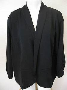 womens black blazer large new concepts new york career