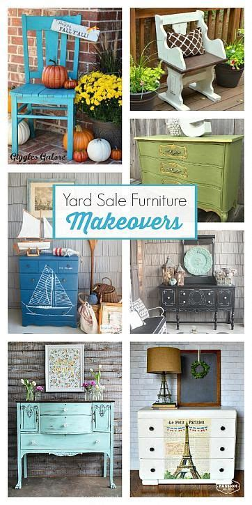 Yard Furniture Sale by Yard Sale Furniture Makeovers With Americana Decor Chalky