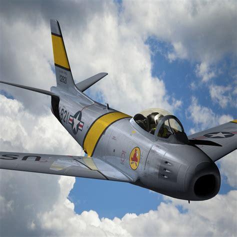 F 86 Sabre Jet F86 3d 3ds