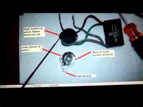 5 wire fan switch hunter ceiling fan 4 wire switch repair youtube