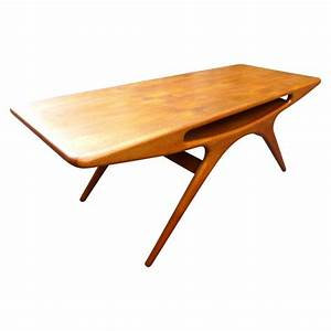 coffee table quotsmilequot johannes andersen 1950s design With 50s coffee table
