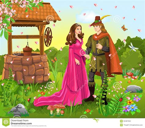Prince And Princess At The Wishing Well Stock Photography. Steps To Writing A Cover Letter For Resume Template. Tri Fold Brochure Paper Size Template. Income Statement Template Xls. Resume Covering Letter Samples Free. Canvas Painting Template Free. Swot Analysis Templates. Baby Q Invitations Template Free. Monthly Profit And Loss Template