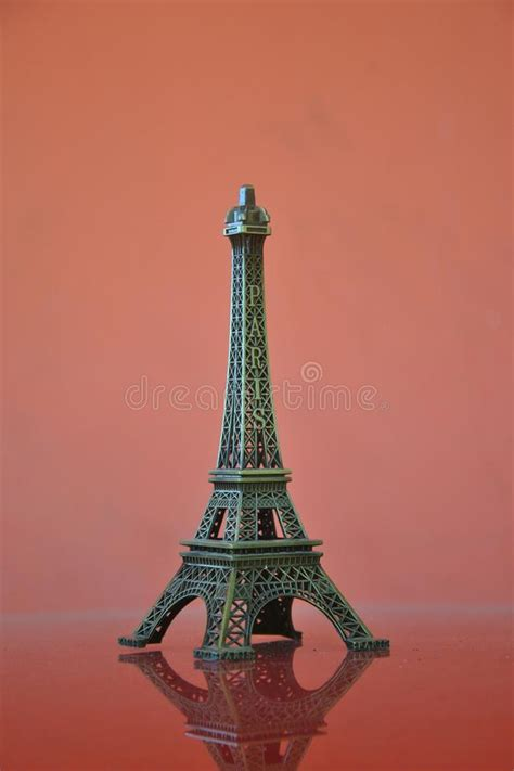 famous paris city objects eiffel tower stock image