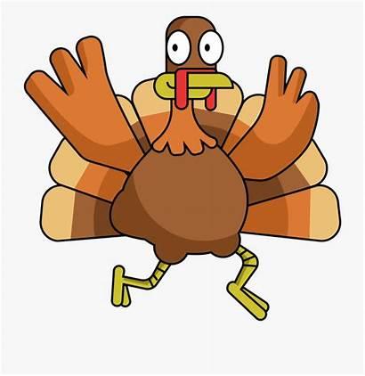 Turkey Clipart Clip Hand Cartoon Thanksgiving Happy