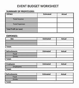 not for profit budget template - church budget worksheet