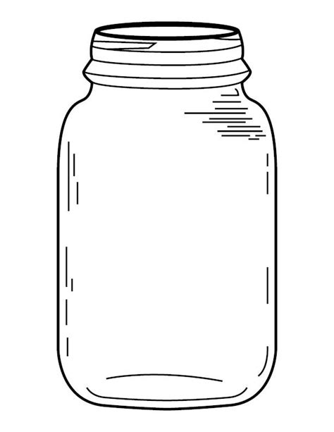 jar template jar coloring page