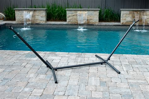 Universal Hammock Stand by Vivere S Universal Hammock Stand Charcoal 8ft Sleepy