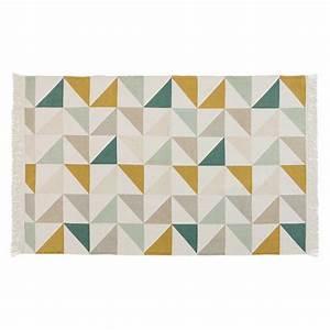Tapis Scandinave Maison Du Monde : tapis motif triangles en coton 120 x 180 cm gaston maisons du monde ~ Nature-et-papiers.com Idées de Décoration