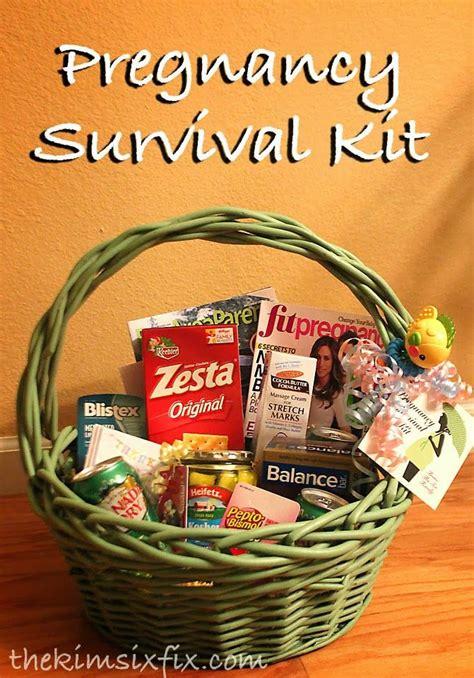 pregnancy survival kit mom   gift basket pregnancy