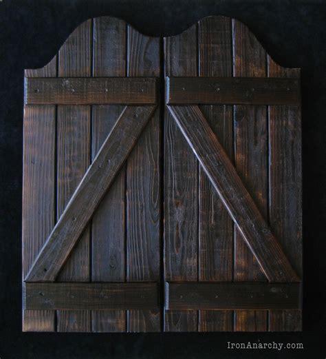handcrafted custom swinging saloon doors