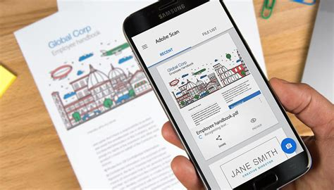 turn  phone   document scanner  adobe scan cnet