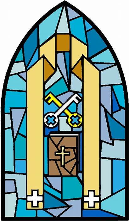 Holy Sacraments Orders Stained Glass Clipart Window