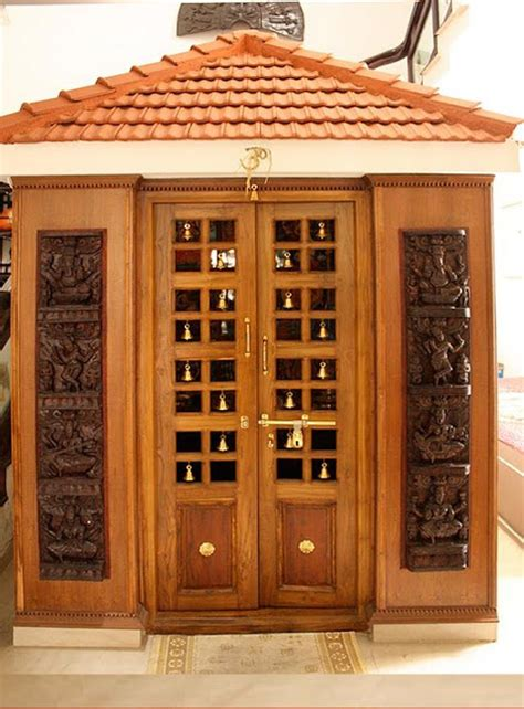 interior design for mandir in home kerala style carpenter works and designs pooja room