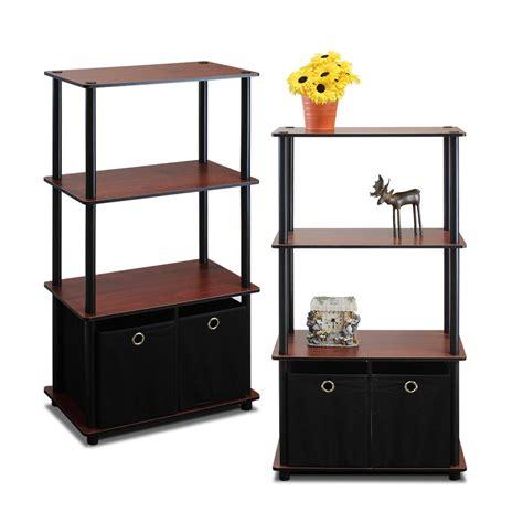 4 shelf open bookcase sauder palladia select cherry storage open bookcase 412019