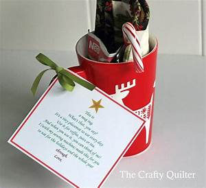 a mug rug poem and thank you the crafty quilter