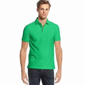 Lyst - Tommy hilfiger Slim Fit Ivy Polo Shirt in Green for Men