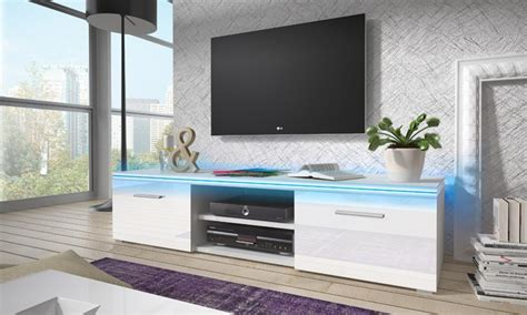 meuble tv avec led groupon shopping