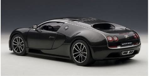 autoart 70937 bugatti veyron sport carbon black 1 18