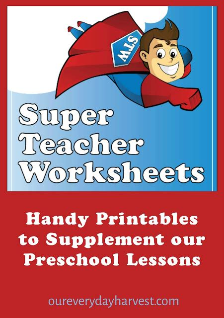 Handy Printables To Supplement Our Preschool Lessons Super Teacher Worksheets {review} Our