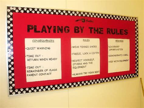 pec bulletin boards  physical education