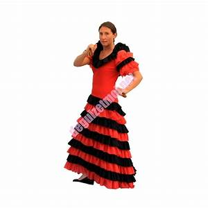 costumes flamenco With robe noir et rouge