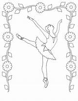Coloring Ballet Dance Pages Dancer sketch template